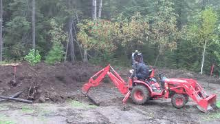 Garage Build - More Digging with the Kubota