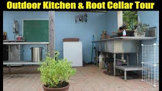 Outdoor Kitchen and Root Cellar Tour