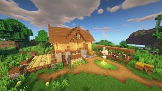 "MINECRAFT TUTORIAL : How to build "" Easy Starter House"" #1"