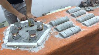 Ideas For Building Beautiful Flower Pots From Cement and Plastic Pipes - Garden Decoration