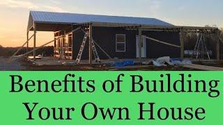 Pole Barn House Build || Benefits of Building It YOURSELF