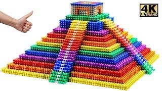 Most Creative - Build Amazing Mayan Pyramids From Magnetic Balls (Satisfying) | Magnet World Series