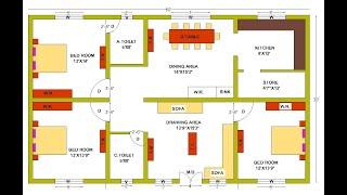 CANADA STYLE HOUSE PLAN | CANADA STYLE HOUSE PLAN 3 BED ROOM | 3BHK HOUSE PLAN CANADA MODERN DESIGN