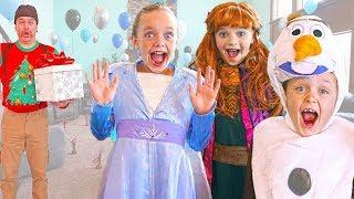 Frozen 2 - Elsa and Anna Give Olaf a Birthday Surprise!