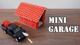 How to Build a MINI GARAGE - BRICK WALL | MINI-HOUSE | BRICKLAYING
