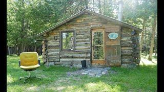 Martin's Old Off Grid Log Cabin #112 Nearing the End of a Cabin Visit