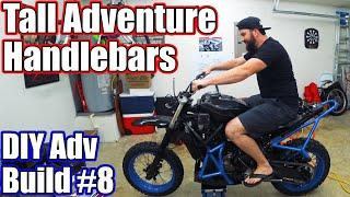 Tall Bars and Long Kickstands a MUST DO MT-07 Adventure Build #8