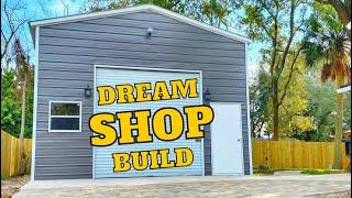 Building a Dream Shop! From Dirt To Finished Building