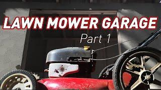 How to Build a DIY Lawn Mower Garage | Part 1