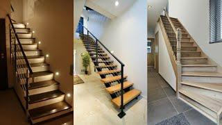 Attractive And Outstandin wooden stair case with wooden railing designs collection/Ideas home decor