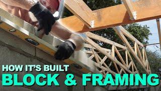 How To Build Block Walls And Frame A Roof. Tarpon Springs, FL Garage Addition