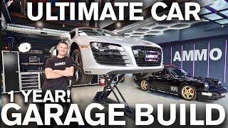 Ultimate Car Detailing Garage Build. 1 Year Restoration Start to Finish
