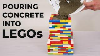Pouring Concrete into LEGO