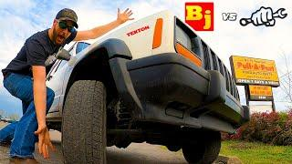 Pull-A-Part Cheap Jeep Challenge - Busted Knuckle vs BleepinJeep | EP1