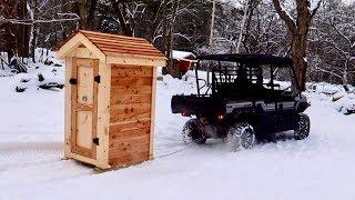 Setting up the NEW Homestead Smoke House and First fire in the FIRE BOX