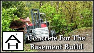 Concrete For The Basement Build