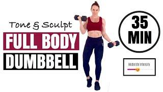 FULL BODY DUMBBELL WORKOUT - For Weightloss and Muscle Tone