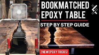 Bookmatched Epoxy Dining Table Build - How to Make a Modern Epoxy Resin Table - DIY Projects