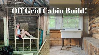 Off Grid Cabin Build! Building a Bathroom,  Mud Room and our Rain Catchment System! Episode 8