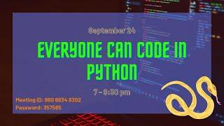 Everyone Can Code in Python