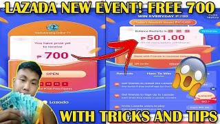 Lazada New Event 2020 l Tips And Tricks (LAZADA 700 PESOS FOR FREE) How To Earn Faster In Lazada 700