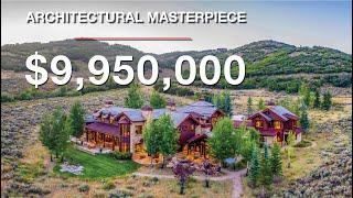 $9,950,000 Architectural Masterpiece with Privacy and Epic Views in The Preserve - Park City, Utah