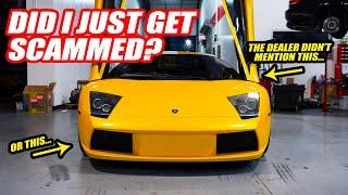 Finding Problems W/ The Murcielago The Dealer *DID NOT* Tell Us About... (Lamborghini Mysteries)
