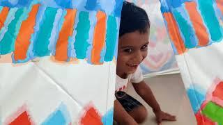 How we built Aryan's new tent House?  and his reaction !!!!