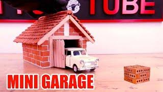 mini brick 1: HOW TO BUILD A BRICK WALL: BRICKLAYING --- How to build a MINI GARAGE