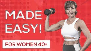 Best Weight Training Workout for Women Over 40 - EASY to FOLLOW!