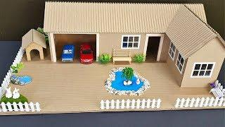 Wow! Building Awesome looking House using cardboard / DIY at Home