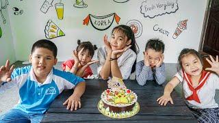 Kids Go To School | Chuns And Classmates Go On a Picnic And Eat Birthday Hand-made