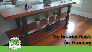 Favorite Finishes for Wood Furniture - Console Table Build - The Garage Engineer