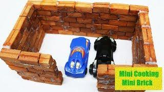 How To Build A Brick Wall Bricklaying Mini House And Garage | BRICK WALL: BRICKLAYING