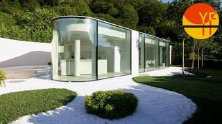 Tour In Lake Lugano House By JMA In LUGANO, SWITZERLAND  | Swiss Glass House
