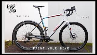 How to Re-Paint Your Bike in Your Garage 2 color DIY