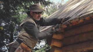 How to Build an Off Grid Log Cabin, Ep3   Simple Roof Structure