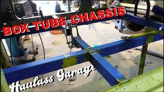HOW TO BUILD A CHEAP BOX SECTION TUBE CHASSIS DIY! Haulass Garage: Episode 9