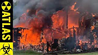 Massive Flames cause small town to Break Out Lawn Chairs !!