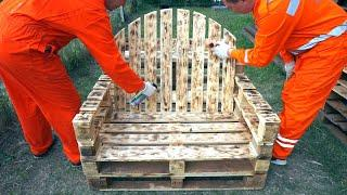 Armchair from pallets Project Cheap From Pallet