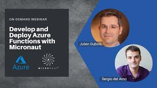 Develop and Deploy Azure Functions with Micronaut Webinar