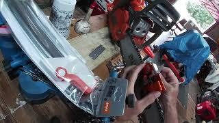 Part XX_Day 3 Garage Build: Goodies 4 Angry Punk'n: DAMN chains on the power saws.