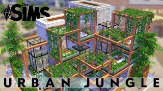 URBAN JUNGLE | LUXURIOUS CITY HOUSE | The Sims 4 Speed Build | NOCC