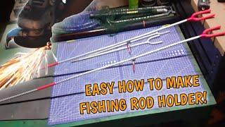 FISHING ROD HOLDER / QUICK BUILD / HOW TO D.I.Y. - Easy 1 hour  weekend project!
