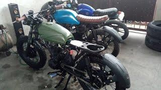 Cafe Racer Brat Style build by: RETRO MOTORCYCLE Garage (part2)
