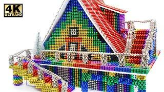 Most Creative - How To Build Mini Magnetic Balls House  (Satisfying)