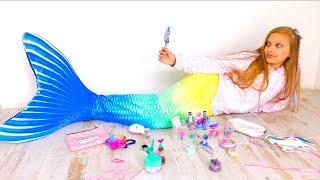 Mermaid's Makeup and Mermaid TAIL! How to become a real MERMAID !