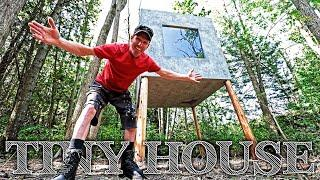 Building 'The Forest Cube'   Super Tiny Off Grid House (on stilts)