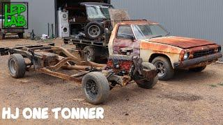 Holden HJ One Tonner Restoration, Part 1: Stripping to Bare Chassis