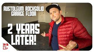 How does it hold up?!  Rustolium Rocksolid Garage Floor | 2 years later